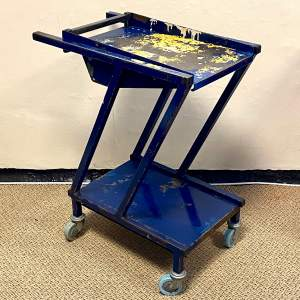 Vintage Metal Industrial Trolley
