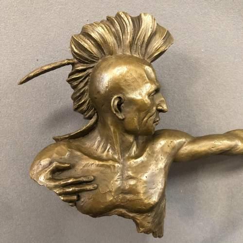 Bronze Native American Sculpture image-4