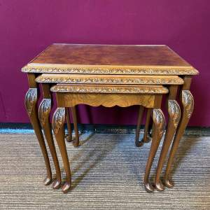 1920s Walnut Nest of Tables