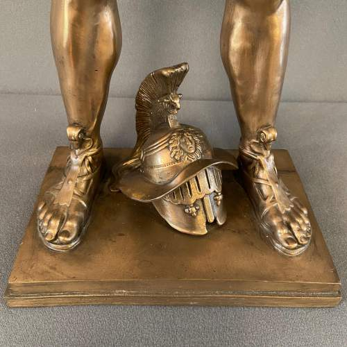 Silvered Bronze of a Roman Gladiator image-6