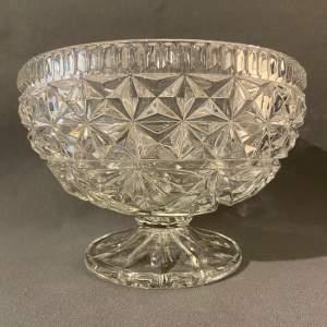 Vintage Pressed Glass Fruit Bowl