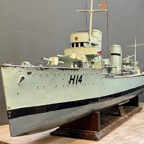 1929 Metal Model Battleship with Steam Plant image-1