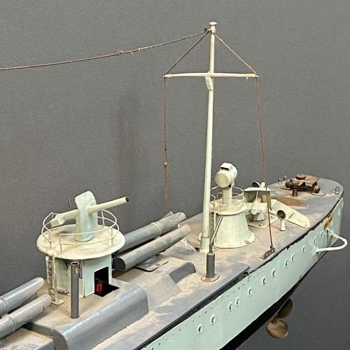 1929 Metal Model Battleship with Steam Plant image-3