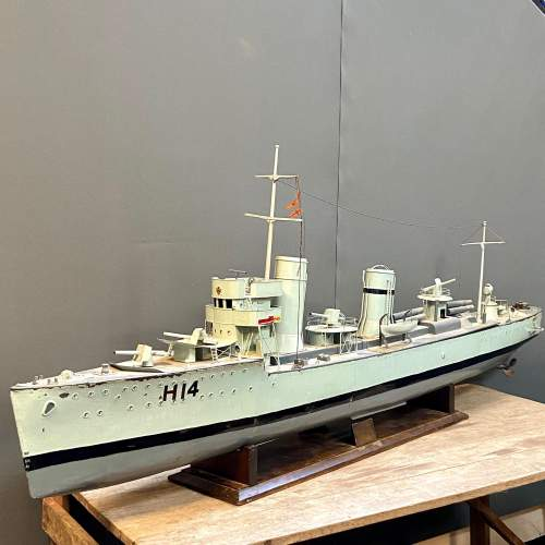 1929 Metal Model Battleship with Steam Plant image-2