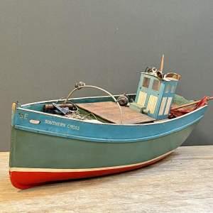 1950s Wooden Model Fishing Boat