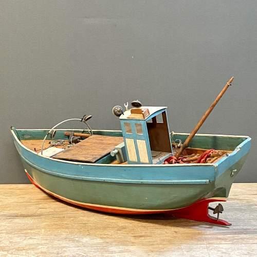 1950s Wooden Model Fishing Boat image-2
