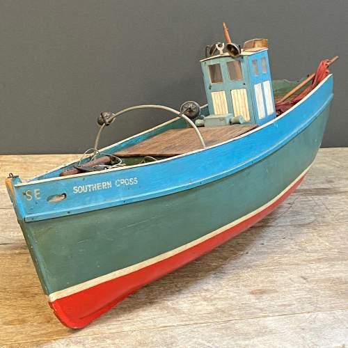 1950s Wooden Model Fishing Boat image-3