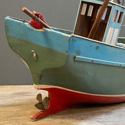 1950s Wooden Model Fishing Boat image-6