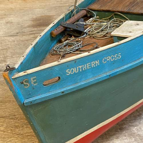 1950s Wooden Model Fishing Boat image-4