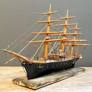 Late 19th Century Model Battleship