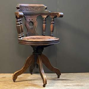 Late 19th Century Captains Chair