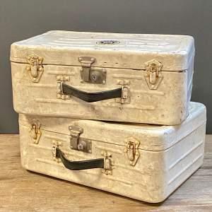 Pair of RAF White Alloy Cases