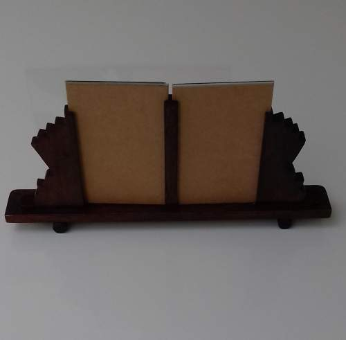 Art Deco Twin Oak Photo Frame image-4