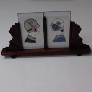 Art Deco Twin Photo Frame