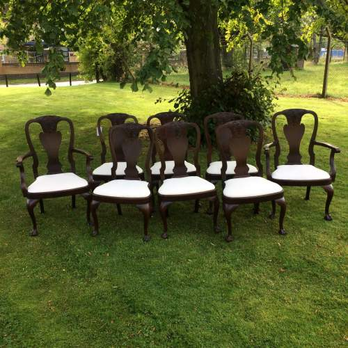 Set of Eight George I style Mahogany Dining Chairs image-1