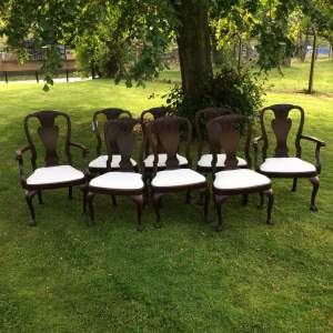Set of Eight George I style Mahogany Dining Chairs