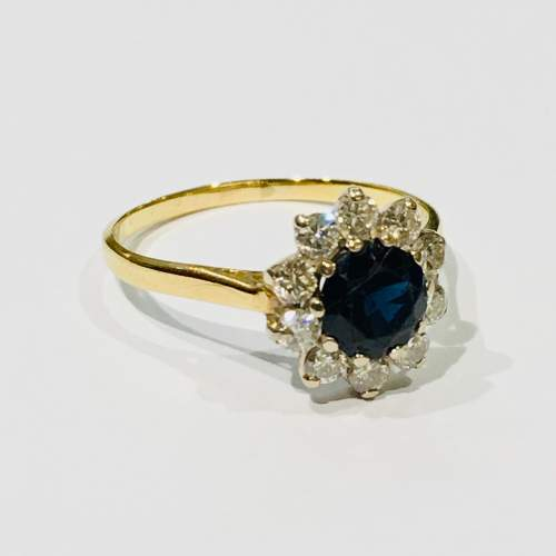 18ct Gold Sapphire and Diamond Ring image-1