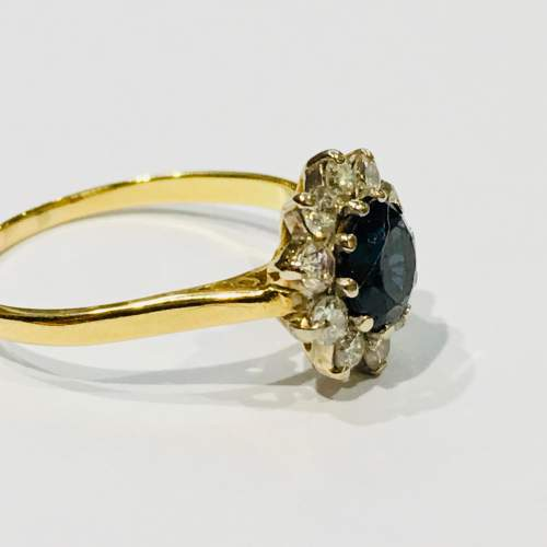 18ct Gold Sapphire and Diamond Ring image-2
