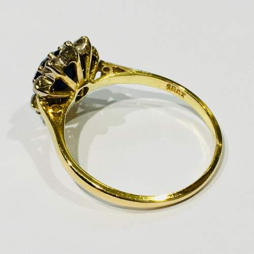 18ct Gold Sapphire and Diamond Ring image-3