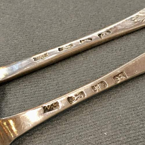 Pair Silver Serving Spoons London 1771-2 image-6