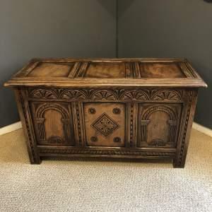 Solid Oak Panelled Coffer