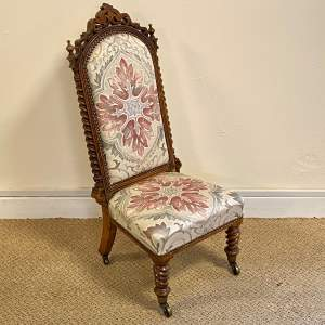 Victorian High Back Childs Chair