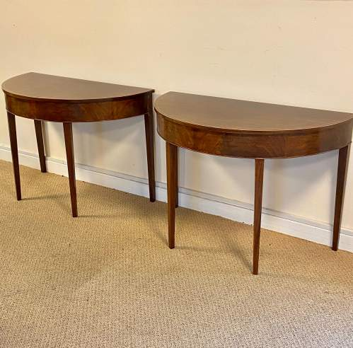Pair of 18th Century Demi Lune Side Tables image-2