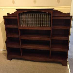 Solid Mahogany Open Fronted Bookcase Circa 1910-1930