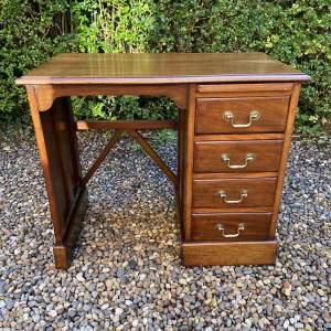 Small Edwardian Mahogany Desk
