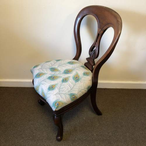 Victorian Balloon Back Chair image-1