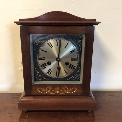 Edwardian Inlaid Mantel Clock image-1
