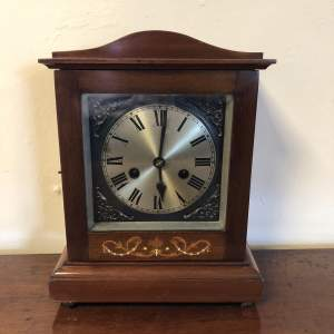 Edwardian Inlaid Mantel Clock