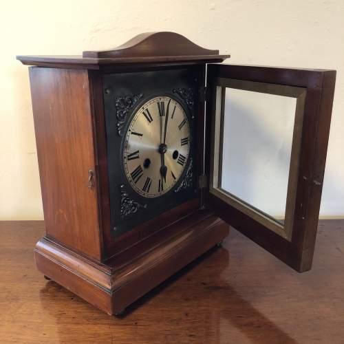 Edwardian Inlaid Mantel Clock image-2