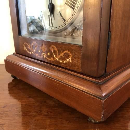 Edwardian Inlaid Mantel Clock image-6