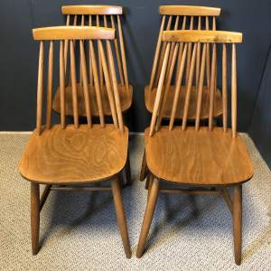 Set of Four Ercol Style Dining Chairs