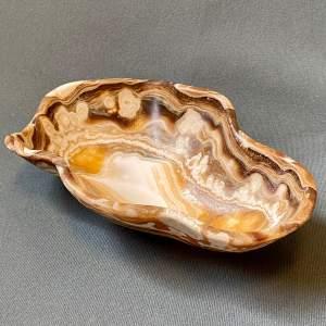 Cobaltoan Calcite Carved Decorative Bowl