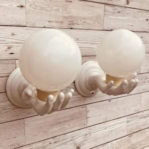 Ceramic Hands Wall Lights