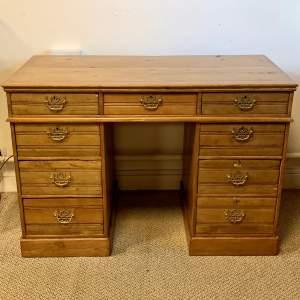 Edwardian Pine Kneehole Desk