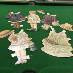 1930s Card Girl Doll and Four Outfits