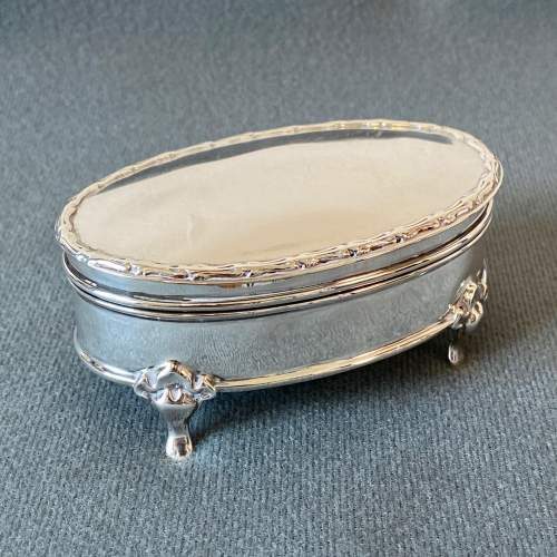 Early 20th Century Walker and Hall Silver Ring Box image-1
