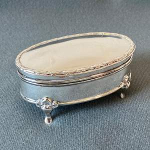 Early 20th Century Walker and Hall Silver Ring Box