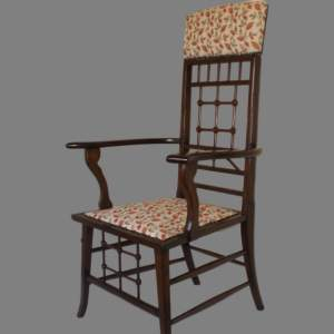 Arts and Crafts Mahogany Armchair