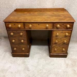 Victorian Satinwood Three Piece Pedestal Desk