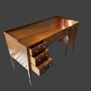 Quality Waring and Gillows Inlaid Mahogany Writing Desk