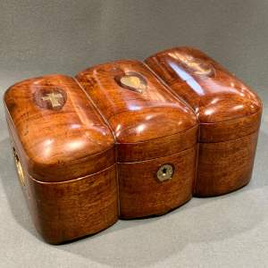 Unusual 19th Century Mahogany Eastern Sailors Large Ditty Box