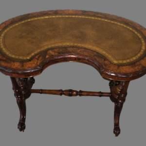 Victorian Ladies Burr Walnut Writing Table