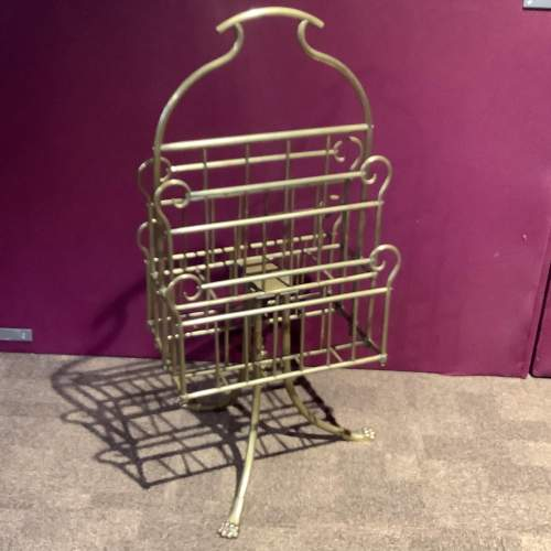 Victorian Brass Paper and Magazine Rack image-1