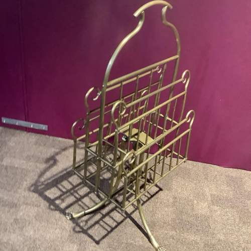 Victorian Brass Paper and Magazine Rack image-3