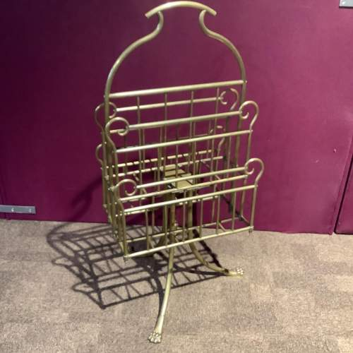 Victorian Brass Paper and Magazine Rack image-4