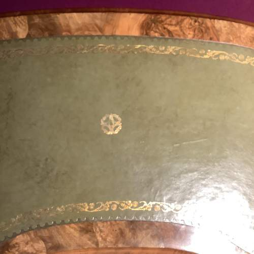 Victorian Burr Walnut Kidney Shape Writing Table image-5
